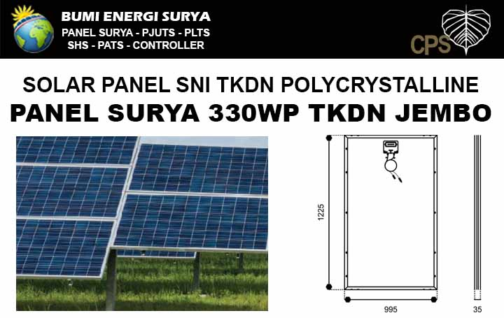 Panel surya 330WP TKDN Polycrystalline Jembo