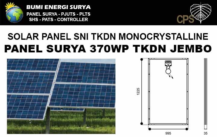 Panel surya 370WP TKDN monocrystalline Jembo