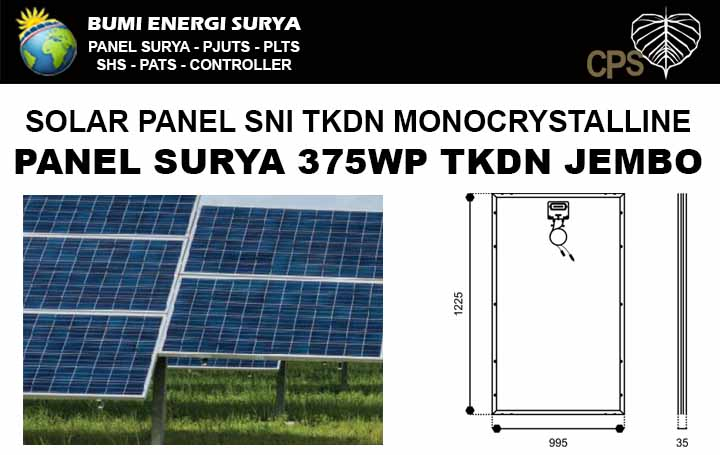 solar panel tkdn monocrystalline 375wp jembo