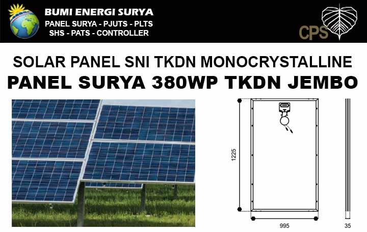 Panel surya SNI 380WP TKDN monocrystalline Jembo