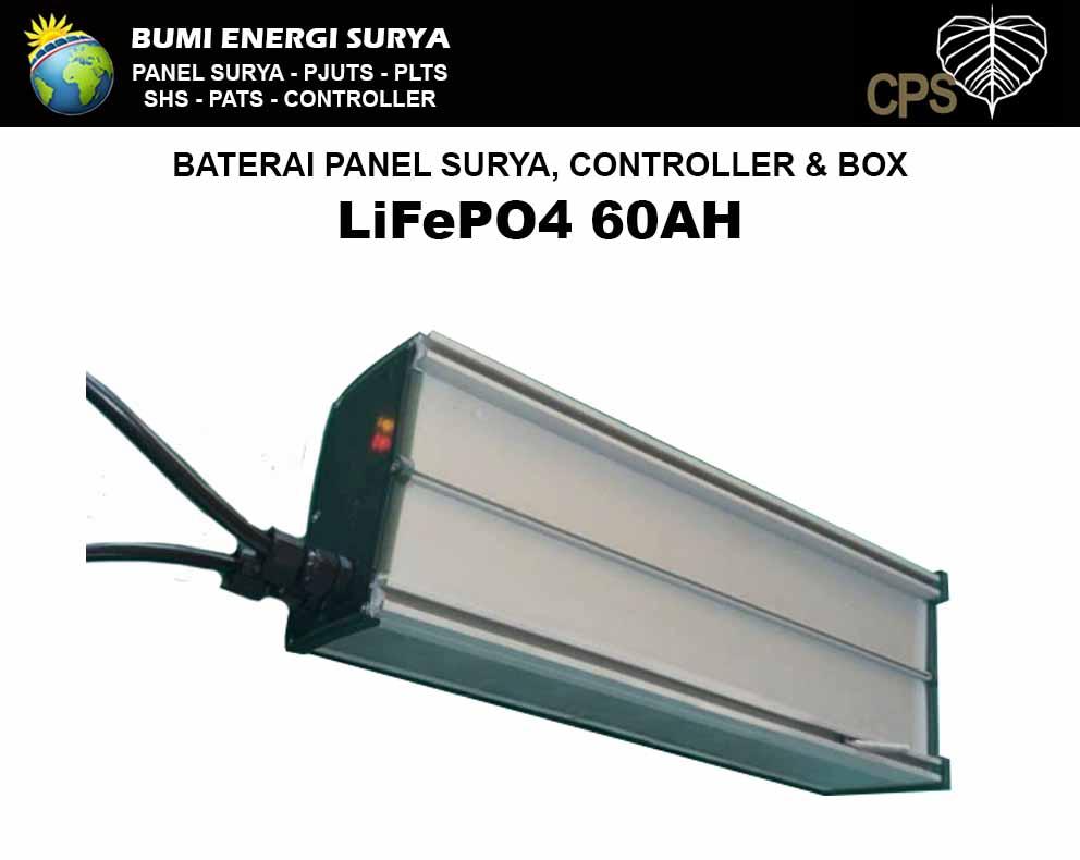 baterai panel surya 60ah controller box