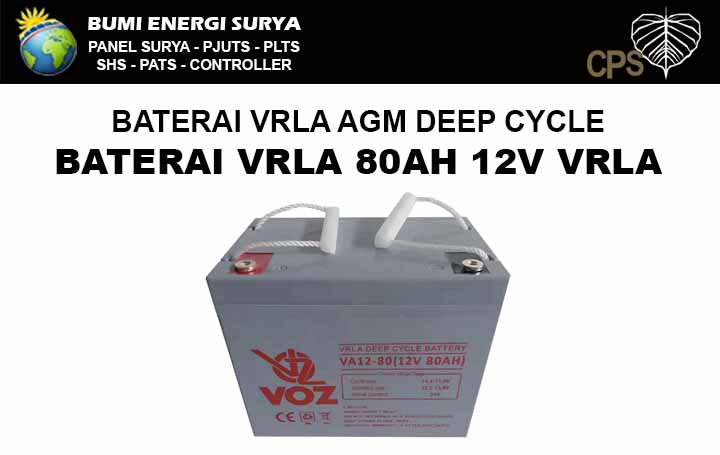 baterai vrla agm deep cycle 80ah 12v voz
