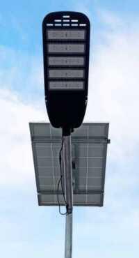 lampu penerangan jalan 80w dan panel surya 150wp