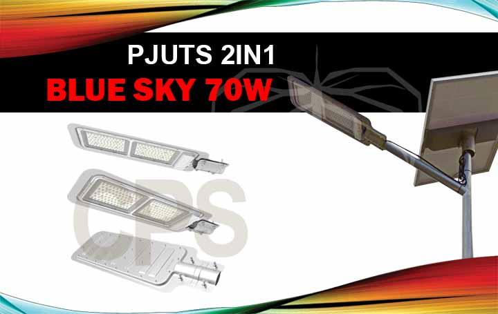 Lampu dan Panel Surya PJU Tenaga Surya 2IN1 70W Blue Sky