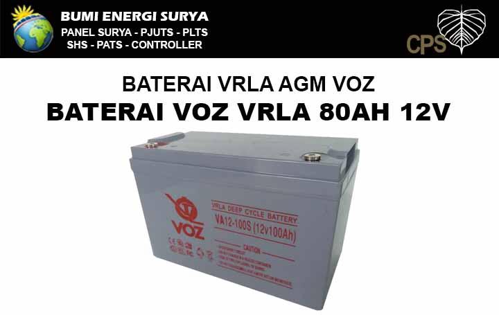 baterai 100ah 12v vrla agm deep cycle voz