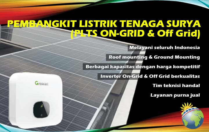 pembangkit listrik tenaga surya on grid off grid