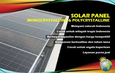 panel surya monocrystalline polycrystalline