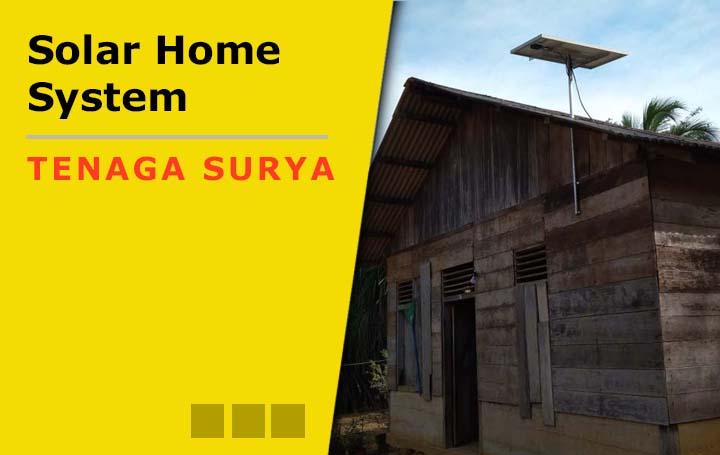 Proyek pemasangan solar home system-SHS