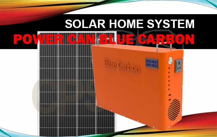 power can blue carbon 1kwh & solar panel 150w